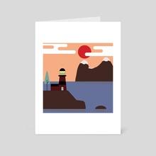 Lighthouse - Art Card by Joanna Górska