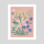 Summer Fairies - Art Print by Emmi-Riikka