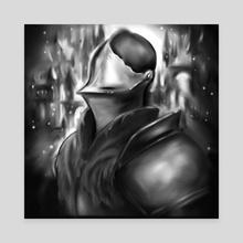 Knight - Canvas by Stine Kasa Hansen