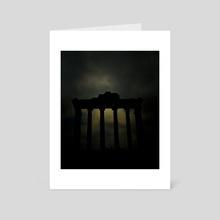 Canevas de Rome # 01 - Art Card by Jérôme Sevrette