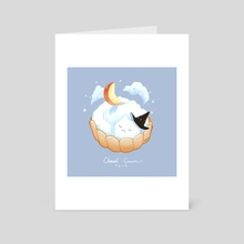 Cloud Cream Cat - Art Card by Nadia Kim