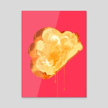 Buttered Challah with Honey - Acrylic by Kali Ciesemier