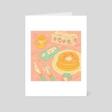 Pancake Breakfast - Art Card by Amy  Dong  (@eggtartstudio)