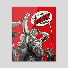 Daredevil UFC Champion - Acrylic by Rodrigo Lorenzo