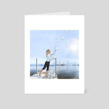 Flying horses - Art Card by Elena Makarova