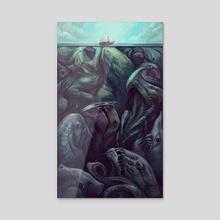 Beneath the Surface - Acrylic by Julie Dillon