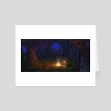 campfire - Art Card by Samuel Smith