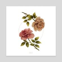 Falling Roses - Canvas by Sharleen Rachel S