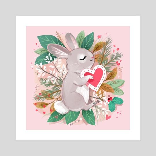 Sleeping Bunny Valentine by Kathryn Selbert