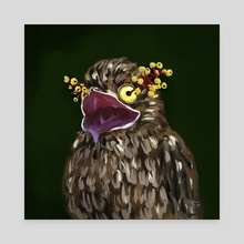 Potoo + Doll's Eyes - Canvas by Meghan Keeley