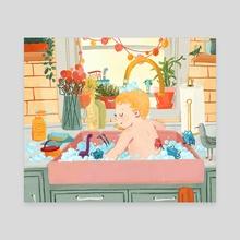 Bath Time - Canvas by Asli Narin