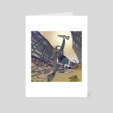 First flight - Art Card by Dmitry Etmanov