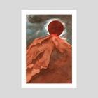 red mountain - Art Print by Rowan Fridley
