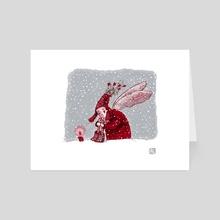 Angel In Red - Art Card by Yulia Ruditskaya