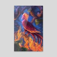 Paradise Phoenix - Acrylic by Andrew Cefalu