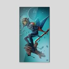 Space Pirate - Acrylic by Matt Chapman