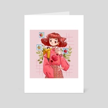 Apple Girl - Art Card by Hyemin Yoo