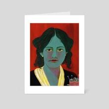 Louisa May Alcott - Art Card by Eliza von Zerneck