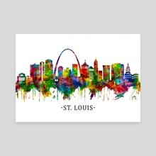 St. Louis Missouri Skyline - Canvas by Towseef Dar