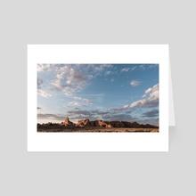 Arches National Park landscape - Art Card by Monika Lis