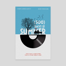 Alternative 500 days of summer movie print - Canvas by Fer Ojea