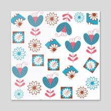 Floral pattern 3b - Acrylic by Luiza Kozich