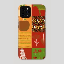 Graphic patchwork 27 - Phone Case by Michal Eyal