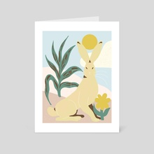 Desert Hare - Art Card by Emmi-Riikka