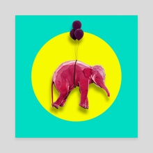 PINK ELEPHANT - Canvas by Thorsten Schmitt