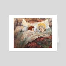 Sleeping till October - Art Card by Anna Cliopadra Burden