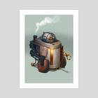 R2D2 - Art Print by Bjorn Hurri
