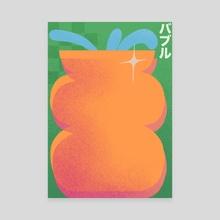 Bubble Vase - Canvas by Ariel Buhlmann