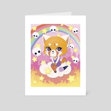 Aggretsuko - Art Card by Hannah Holmes