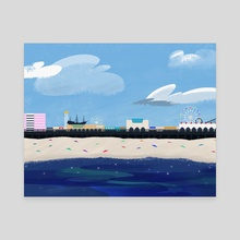 Boardwalk (Day) - Canvas by Evan Csulik