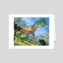 Rampaging Brontodon - Art Card by Lars Grant-West
