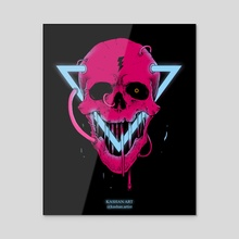 Neon Storm - Acrylic by Kashan Art