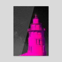 Pink Lighthouse - Acrylic by Cosmic Vault
