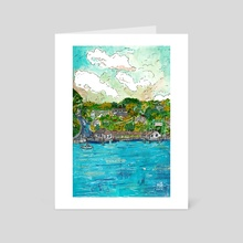 Peaks Island - Art Card by Gouache & Ink