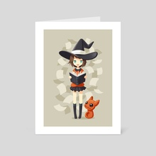 Little Witch 2 - Art Card by Indré Bankauskaité