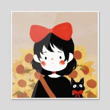 tiny kiki - Acrylic by Cinnamoonie ♡