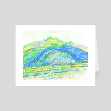 Quiet Korean Mountains - Art Card by Lesley Kim