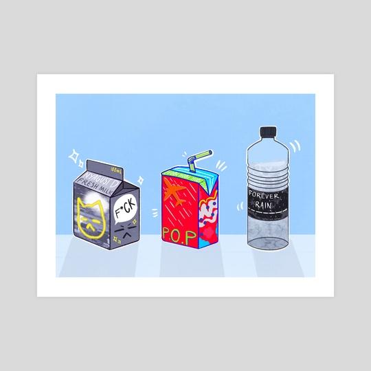mixtape drinks by nemufroggy