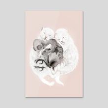 Litter of Three - Acrylic by Katariina Salomaa
