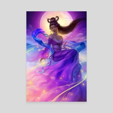 The Moon Goddess - Canvas by Keri Ruediger
