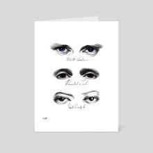 Eyes - Art Card by Wyatt Myers