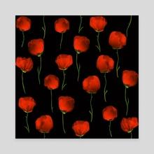 Poppy dance - Canvas by Richard Laschon