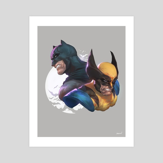 Batman and Wolverine by Mohammed Agbadi