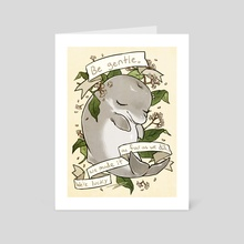 Be Gentle Baiji - Art Card by reapersun