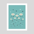 Floral Fish Hive - Art Print by Dahlia