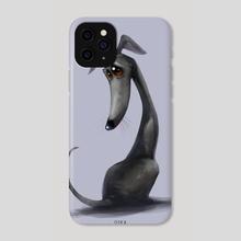 Greyhound - Phone Case by Oskar Burchett
